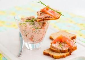 Como hacer Paté de salmón ahumado
