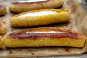 Plátanos al horno Receta