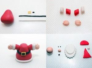 Como hacer Santa Claus de Fondant