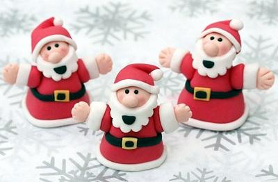Como hacer un Santa Claus de fondant