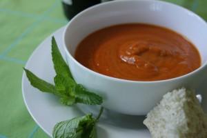 Receta de sopa de berenjena y maíz