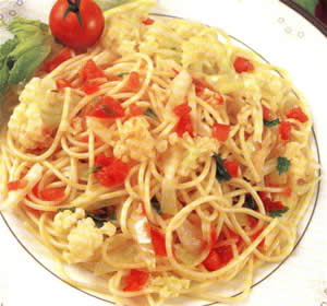 Como hacer el espagueti primavera (Receta)