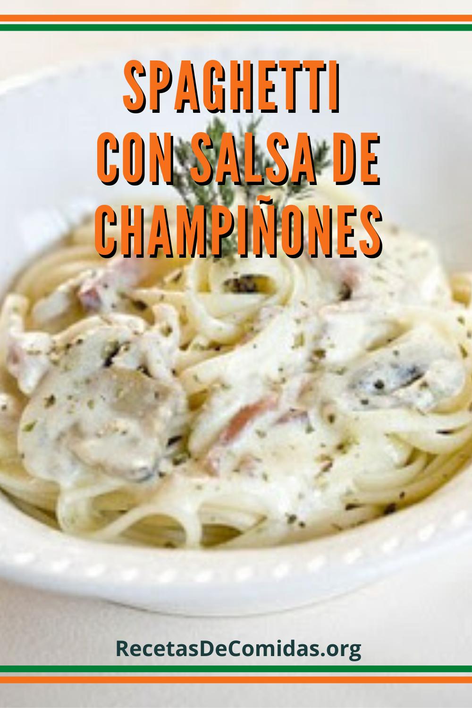 Espaghetti con salsa de champiñones